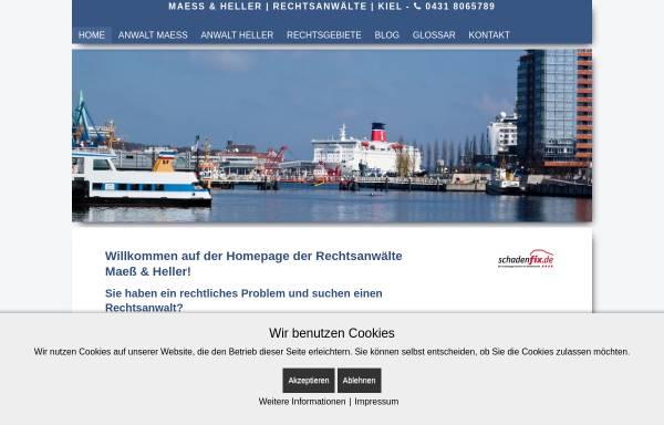 Vorschau von www.maess-heller.de, Rechtsanwälte Maeß & Heller, Kiel