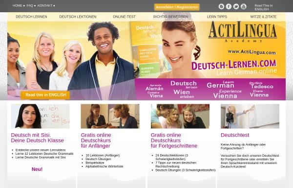 Vorschau von www.deutsch-lernen.com, Deutsch Lernen - Kostenloser Online Deutschkurs