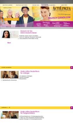 Vorschau der mobilen Webseite www.deutsch-lernen.com, Deutsch Lernen - Kostenloser Online Deutschkurs
