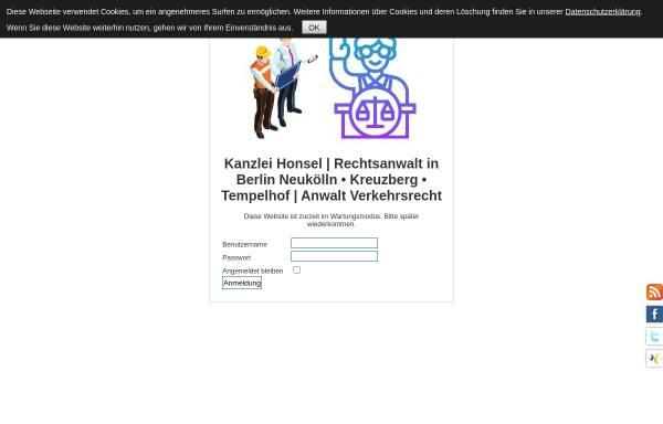 Vorschau von www.kanzlei-honsel.de, Kanzlei Honsel