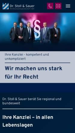 Vorschau der mobilen Webseite www.dr-stoll-kollegen.de, Dr. Stoll & Kollegen Rechtsanwaltsgesellschaft mbH