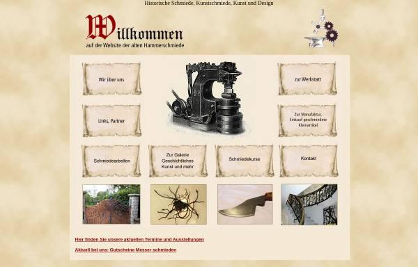 Vorschau von www.alte-hammerschmiede.de, Alte Hammerschmiede - Zwischen Feuer und Amboss