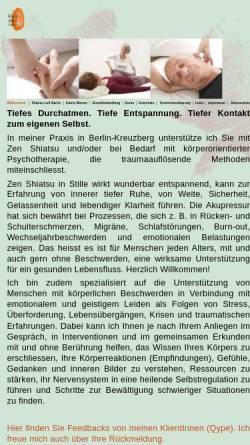 Vorschau der mobilen Webseite shiatsu-loft-berlin.de, Kyo Mei - Shiatsu Loft Berlin / Katrin Werner