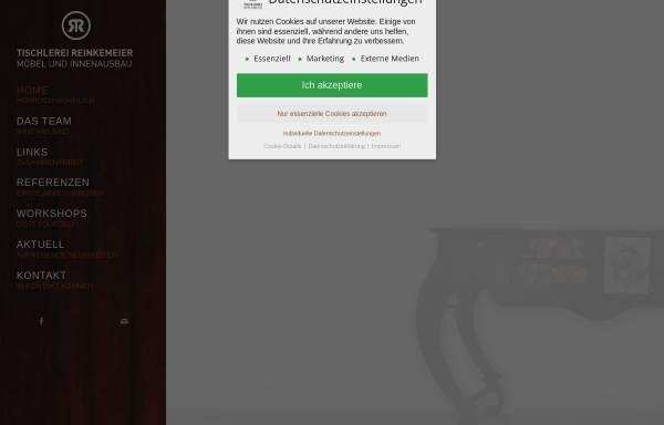 Vorschau von www.tischlerei-reinkemeier.de, Tischlerei Reinkemeier
