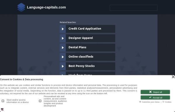 Vorschau von www.language-capitals.com, Language Capitals