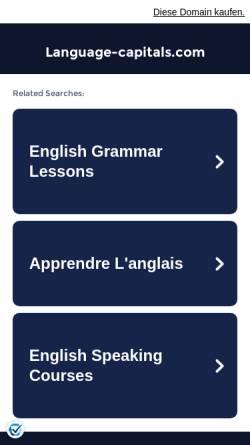 Vorschau der mobilen Webseite www.language-capitals.com, Language Capitals