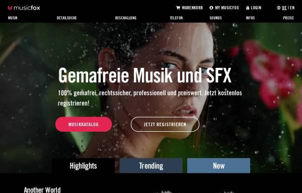 Vorschau von www.musicfox.com, musicfox