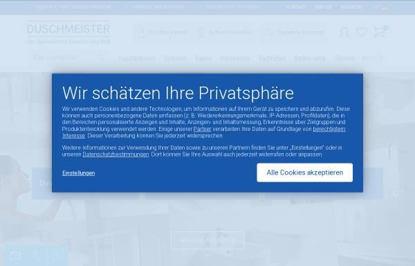 Vorschau von www.duschmeister.de, Duschmeister - Spezialist für Duschen und Badmöbel