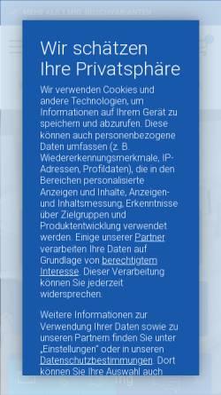 Vorschau der mobilen Webseite www.duschmeister.de, Duschmeister - Spezialist für Duschen und Badmöbel