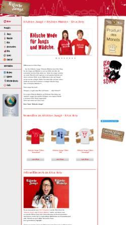 Vorschau der mobilen Webseite www.koelsche-jungs.com, Kölsche Jungs bzw. Mädche