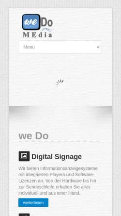 Vorschau der mobilen Webseite www.wedomedia.de, WeDo MEdia oHG - Digital Signage Lösungen