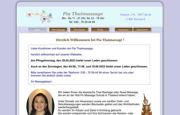 Vorschau von www.pia-thaimassage.de, Pia Thaimassage
