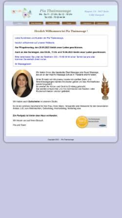 Vorschau der mobilen Webseite www.pia-thaimassage.de, Pia Thaimassage