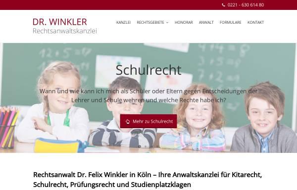 Vorschau von www.rechtsanwaltskanzlei-winkler.de, Rechtsanwalt Dr. Felix Winkler