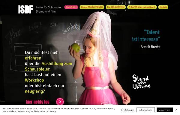 Vorschau von www.schauspiel-hamburg.de, I S D F - Institut für Schauspiel Drama und Film