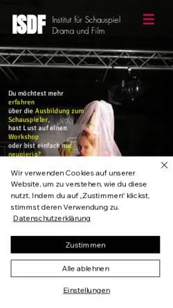 Vorschau der mobilen Webseite www.schauspiel-hamburg.de, I S D F - Institut für Schauspiel Drama und Film