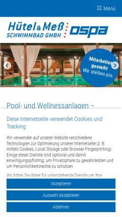 Vorschau der mobilen Webseite www.huetel-mess.de, Hütel und Mess