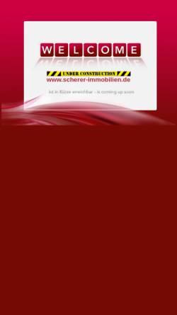 Vorschau der mobilen Webseite www.scherer-immobilien.de, Scherer Immobilien GmbH