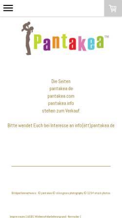 Vorschau der mobilen Webseite www.pantakea.de, Pantakea Kindercafé Düsseldorf