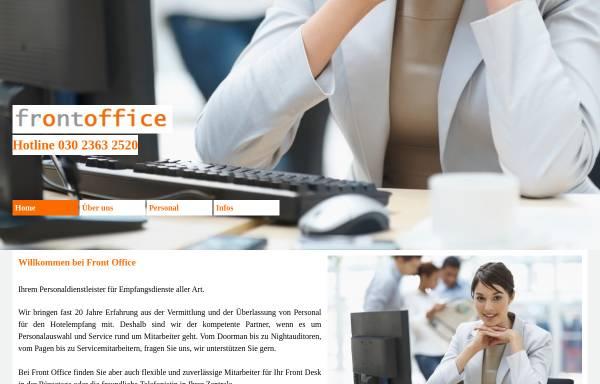 Vorschau von www.fo-personal.de, Front Office GmbH