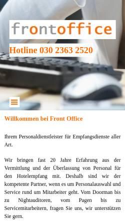 Vorschau der mobilen Webseite www.fo-personal.de, Front Office GmbH