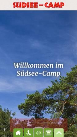 Vorschau der mobilen Webseite www.suedsee-camp.de, Südsee-Camp