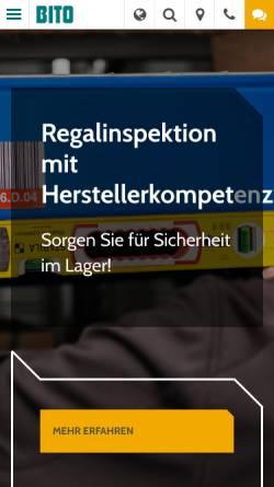Vorschau der mobilen Webseite www.bito.de, BITO-Lagertechnik Bittmann GmbH