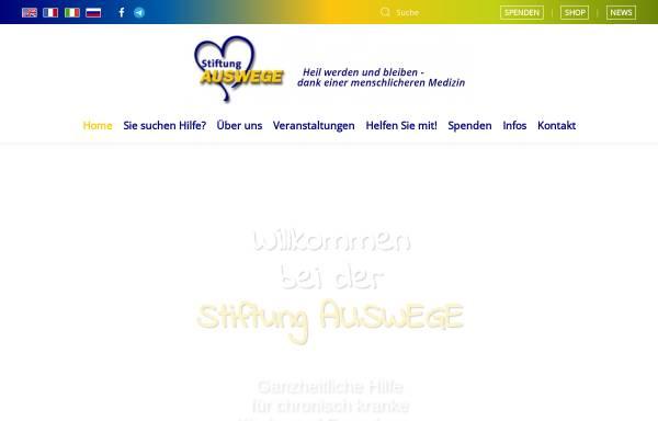 Vorschau von www.stiftung-auswege.de, Stiftung Auswege - Therapeutische Auswege für chronisch Kranke