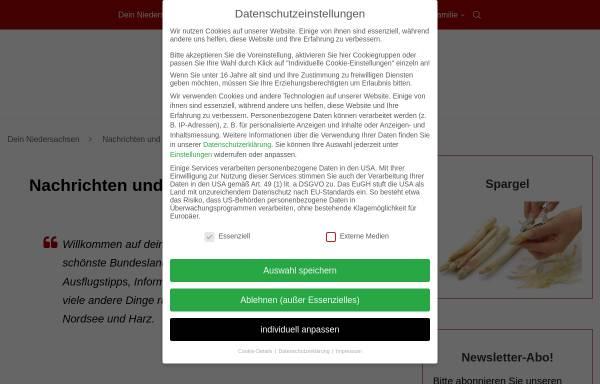 Vorschau von www.dein-niedersachsen.de, Niedersachsen und die Nordsee