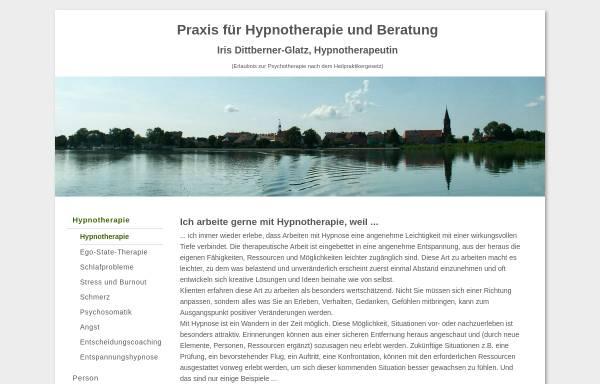 Vorschau von www.hypnotherapie-beratung.de, Hypnotherapiepraxis Köpenick, Iris Dittberner-Glatz
