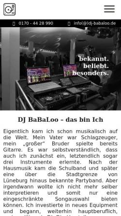 Vorschau der mobilen Webseite dj-babaloo.de, DJ BaBaLoo