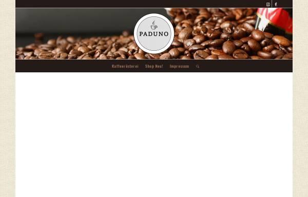 Vorschau von www.paduno-kaffeepads.de, Paduno - Individuelle Kaffeepads