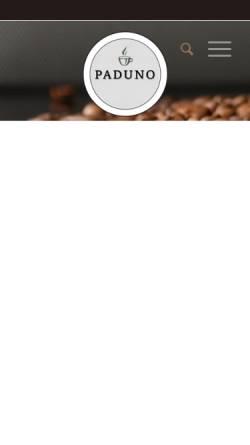 Vorschau der mobilen Webseite www.paduno-kaffeepads.de, Paduno - Individuelle Kaffeepads
