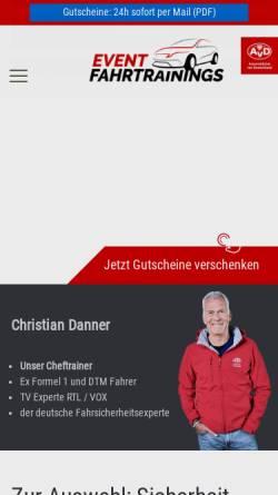 Vorschau der mobilen Webseite www.event-fahrtrainings.de, Event Fahrtrainings