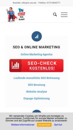 Vorschau der mobilen Webseite www.in-seo.de, In-Seo.de, Dirk Schiff