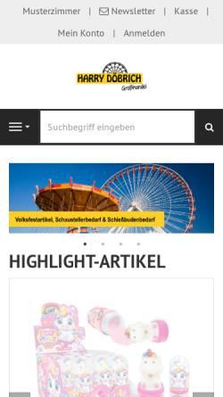 Vorschau der mobilen Webseite www.volksfestartikel-doebrich.de, Harry Döbrich GmbH
