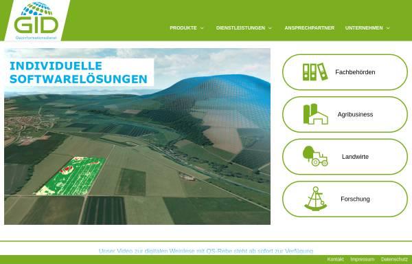 Vorschau von www.geoinformationsdienst.de, Geoinformationsdienst GmbH