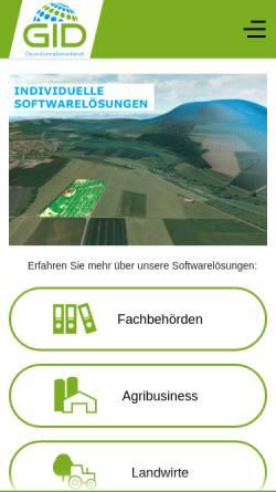 Vorschau der mobilen Webseite www.geoinformationsdienst.de, Geoinformationsdienst GmbH