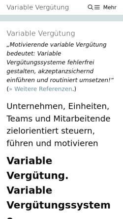 Vorschau der mobilen Webseite variable-verguetung.com, Variable Vergütung - Wolf I.O. Group GmbH
