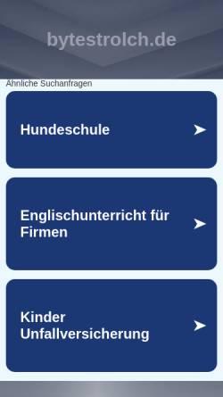Vorschau der mobilen Webseite benin.bytestrolch.de, Africa Solo - Benin 2010 [Steffen]