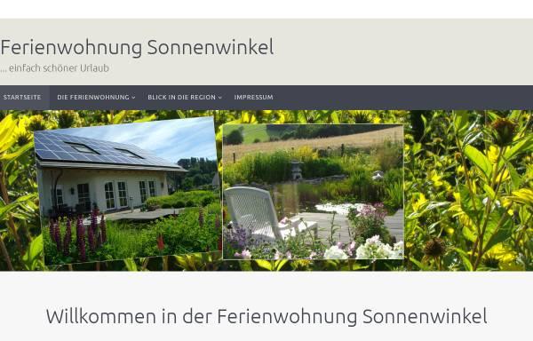 Vorschau von www.fewo-sonnenwinkel.de, Ferienwohnung Sonnenwinkel