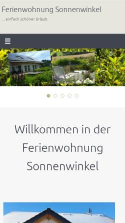 Vorschau der mobilen Webseite www.fewo-sonnenwinkel.de, Ferienwohnung Sonnenwinkel