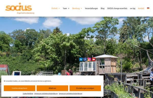 Vorschau von www.socius.de, Socius Organisationsberatung und Organisationsentwicklung