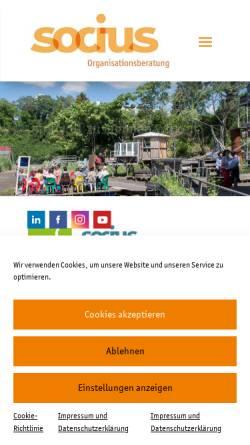 Vorschau der mobilen Webseite www.socius.de, Socius Organisationsberatung und Organisationsentwicklung