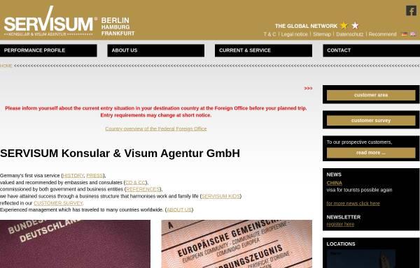 Vorschau von www.servisum.de, SerVisum Konsular & Visum Agentur GmbH