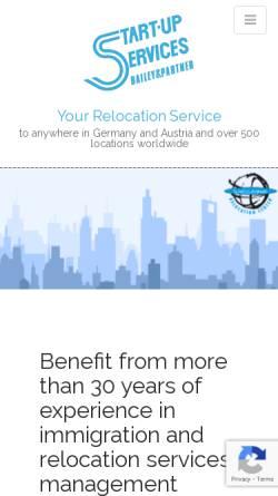 Vorschau der mobilen Webseite www.start-up-services.de, Welcome Relocation Center - Start-Up Services GmbH