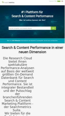 Vorschau der mobilen Webseite suite.searchmetrics.com, Searchmetrics