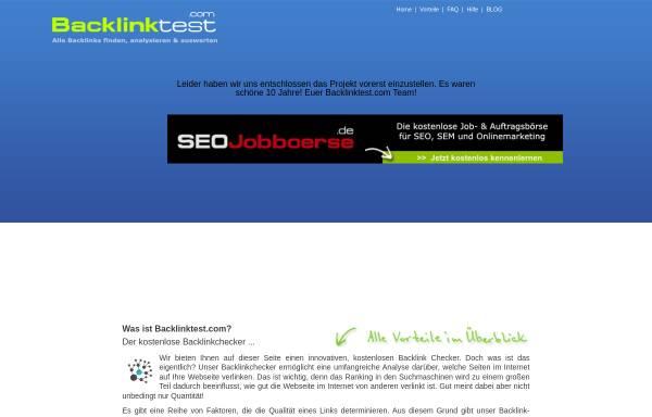Vorschau von www.backlinktest.com, Backlinktest.com