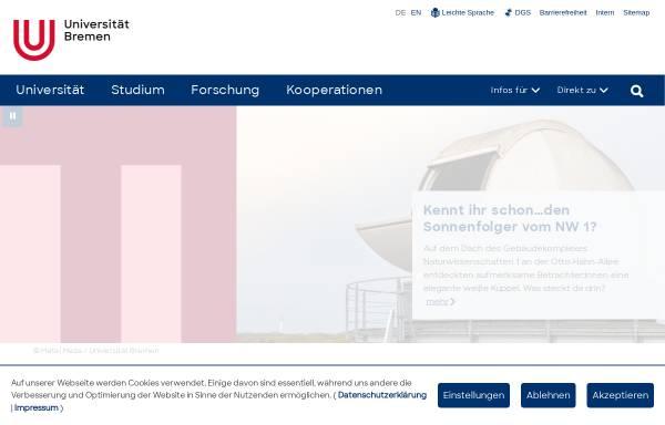 Vorschau von www.uni-bremen.de, Kinder Uni - Universität Bremen