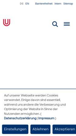 Vorschau der mobilen Webseite www.uni-bremen.de, Kinder Uni - Universität Bremen